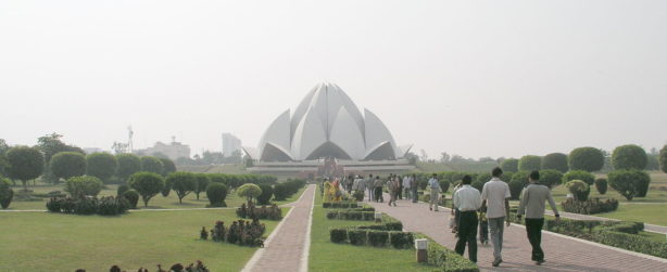 the Lotus Temple in India mother temple of India