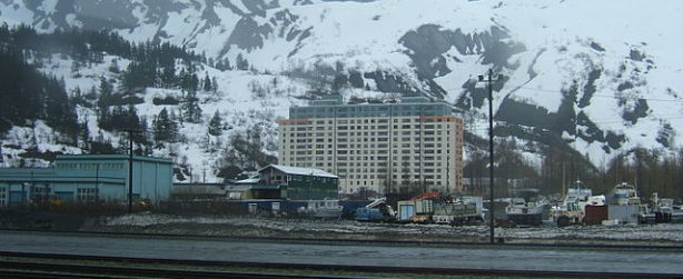 Whittier Alaska a town under one roof