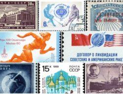 Soviet postage stamps
