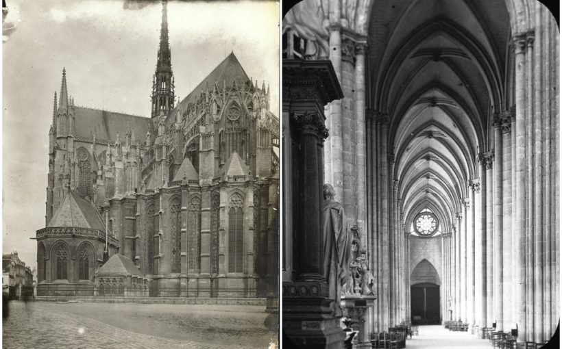 Gothic cathedrals - their splendor in old photographs and